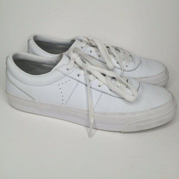 Converse Cons All Star White Leather Low Sneakers